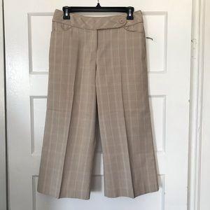 NEW White House Black Market Cropped Kaki Pants 4